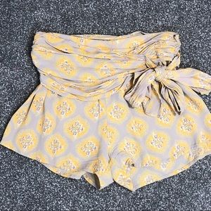 Free People Beach Comb festival shorts w bow sz 0